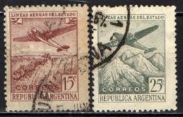 ARGENTINA - 1946 - AEREO SULLE CASCATE E SULLE ANDE - USATO - Posta Aerea