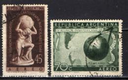 ARGENTINA - 1948 - CONGRESSO DEI CARTOGRAFI PANAMERICANI - USATI - Posta Aerea
