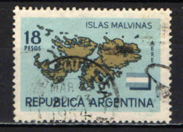 ARGENTINA - 1964 - ISOLE FALKLAND - MALDIVE - USATO - Posta Aerea