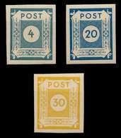 SBZ OSTSACHSEN Nr 53-55 Postfrisch S62DB0A - Zone Soviétique