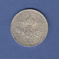 Österreich 1908 Silber-Gedenkmünze 50 Jahre Thronbesteigung Franz Joseph I. - Oesterreich