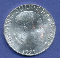 Österreich 50-Schilling Silber-Gedenkmünze 1971, Julius Raab - Oesterreich