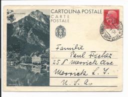 Italien P 96 - 75 Cmi  Viktor Emanuel III  Bipo : Lago Di Ledro Von Selva In Val N. Merrick (USA) Bedarfsverwendet - 1900-44 Victor Emmanuel III.