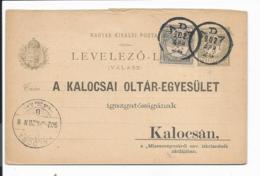 Ungarn P 24 A Zudr. -  4 F Krone Antwortteil Mit Zudruck Im Inland Bedarfsverwendet - Ganzsachen