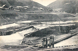 IACOBENI / SUCEAVA : CASCADA / O PLUTA Pe BISTRITA / FLOTTAGE DU BOIS / FLOATING TIMBER On BISTRITA RIVER ~ 1925 (aa988) - Rumänien