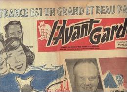 L'AVANT GARDE Du 17 Février 1954 ( Organe De Combat Des Jeunes Travailleurs ) Communiste : ARAGON ,THOREZ,JOLIOT-CURIE . - Journaux - Quotidiens