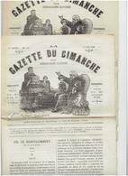 La Gazette Du Dimanche N° 9 Et 11  Du 1 Mai 1881 Et 17 Avril 1881 - 1850 - 1899