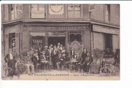 633 - VILLENEUVE-la-GARENNE - Quai D'Argenteuil (Maison PEISTEIL,devanture Tabac Billard Animée) - Villeneuve La Garenne