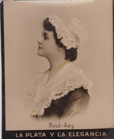 MAUD AMY. HABANILLOS LA PLATA. COLORISE. CARD TARJETA COLECCIONABLE TABACO. CIRCA 1915 SIZE 4.5x5.5cm - BLEUP - Célébrités