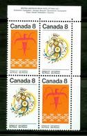 Indiens Des Plaines / Plain Indians. Timbres Scott Stamps # 564-565, Bloc De Coin Neuf / Mint Corner Block (1831) - 1952-.... Règne D'Elizabeth II