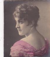MIGNON. COLORISE. CARD TARJETA COLECCIONABLE TABACO. CIRCA 1915 SIZE 4.5x5.5cm - BLEUP - Célébrités