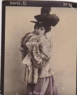 DE POUGY. HABANILLOS LA PLATA. COLORISE. CARD TARJETA COLECCIONABLE TABACO. CIRCA 1915 SIZE 4.5x5.5cm - BLEUP - Célébrités