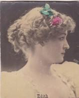 EDITH. COLORISE. CARD TARJETA COLECCIONABLE TABACO. CIRCA 1915 SIZE 4.5x5.5cm - BLEUP - Berühmtheiten
