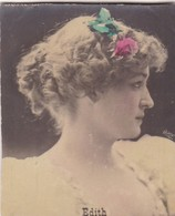 EDITH. COLORISE. CARD TARJETA COLECCIONABLE TABACO. CIRCA 1915 SIZE 4.5x5.5cm - BLEUP - Célébrités