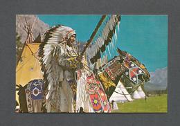 INDIENS AMÉRIQUE DU NORD - CHEF INDIEN DANS LA RÉGION DE BANFF CANADIAN ROCKIES - PHOTO CANADIAN PACIFIC RAILWAY - Indiens De L'Amerique Du Nord