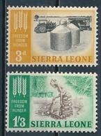 °°° SIERRA LEONE - Y&T N°226/27 - 1963 MNH °°° - Sierra Leone (1961-...)