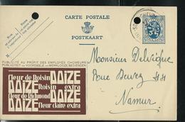 Publibel Obl. N° 36  Fleur De Roisin - DOIZE - Tabac) Obl. Vaux - Sous - Chevromont 16/05/34  (2 Trous De Classement !!) - Stamped Stationery