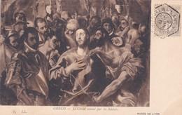 GRECO. LE CHRIST AMENE PAR LES SOLDATS. MUSEE DE LYON. LL. CPA OBLITEREE PAQUEBOAT STAMER NANCY 1910 - BLEUP - Peintures & Tableaux