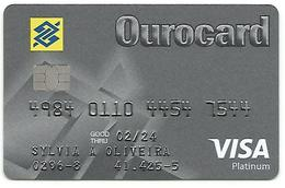 LSJP BRAZIL CARD CREDIT BANK OF BRAZIL OUROCARD VISA PLATINUM - Geldkarten (Ablauf Min. 10 Jahre)