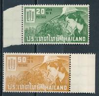 °°° THAILAND - Y&T N°380/81 - 1963 MNH °°° - Tailandia