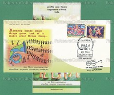 INDIA 2018 Inde Indien - Children's Day 2v FDC + Brochure MNH ** - Communal Harmony, Paintings, Art - As Scan - FDC