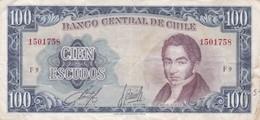 1962 CIEN ESCUDOS BANCO CENTRAL DE CHILE MANUEL RENGIFO - BLEUP - Chile