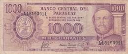 1963 BILL BANCO CENTRAL DE PARAGUAY MIL GUARANIES - BLEUP - Paraguay