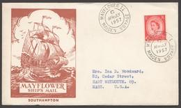1957 MAYFLOWER II Maiden Voyage Letter Carried On Board To The USA - 1952-.... (Elizabeth II)