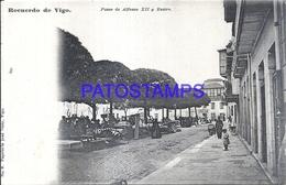 110167 SPAIN ESPAÑA VIGO PONTEVEDRA PASSEO DE ALFONSO XII Y RASTRO POSTAL POSTCARD - Espagne