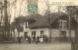 090419 - 94 CRETEIL - LES BORDS DE LA MARNE - Restaurant CAMUS Villa Schaken - Matelotte Friture - Creteil