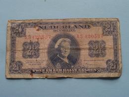 2 1/2 Gulden ( Nederland MUNTBILJET ) 1945 - AS 420537 > See Photo For Detail ! - 2 1/2 Gulden