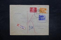 YOUGOSLAVIE - Enveloppe De Zagreb Pour Bruxelles Par Avion En 1949 , Affranchissement Recto Et Verso Plaisant - L 27602 - 1945-1992 Socialist Federal Republic Of Yugoslavia