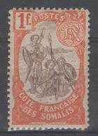 COTE DES SOMALIS:  N°50 *         - Cote 37€ - - Côte Française Des Somalis (1894-1967)
