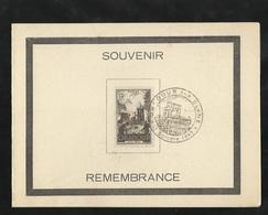 FDC Encart Premier Jour Numéroté Ouradour Sur Glane Le 13 Octobre 1945 Le N° 742 Cachet Illustré TB  Soldé ! ! - ....-1949