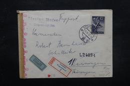 SLOVAQUIE - Enveloppe De Vondrisel Pour Meiningen Par Avion En 1943 Avec Contrôle , Affranchissement Plaisant - L 27605 - Slovaquie