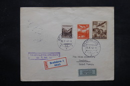 SLOVAQUIE - Enveloppe En Recommandé De Bratislava Pour Presov Par Avion En 1943 , Affranchissement Plaisant - L 27607 - Cartas