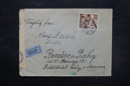 SLOVAQUIE - Enveloppe De Kremnica Par Avion En 1942 Avec Contrôle Postal, Affranchissement Plaisant - L 27609 - Cartas