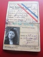 1947 Titre De Transport CARTE NATIONALE DE PRIORITÉ Des MÈRES De FAMILLE Ministère Santé Publique Population-☛(Périmé) - Transportation Tickets