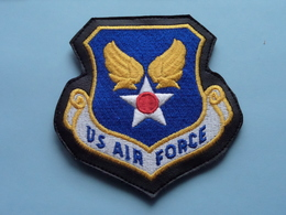 US AIR FORCE > Patch On Leather >Embleem - Badge - Insigne - Insignia - Emblème ( Voir / See Photo  For Detail ) ! - Aviation
