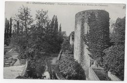 (RECTO / VERSO) CHATILLON COLIGNY EN 1911 - N° 35 - ANCIENNES FORTIFICATIONS ET RIVIERE DES CRENAEAUX - CPA VOYAGEE - Chatillon Coligny