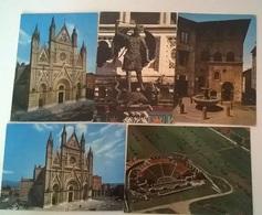 5 CARTOLINE ORVIETO GUBBIO (17) - Cartoline