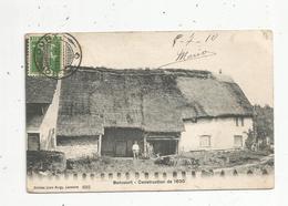 Cp, SUISSE , BONCOURT, 1910 , Construction De 1630 , Voir Oblitération Sur 2 E Scan , Cachet : Affranchissement Au Verso - JU Jura