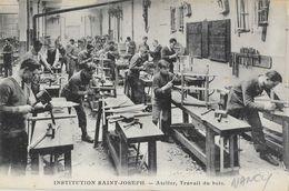 Institution St Saint-Joseph, Nancy, élèves Atelier Travail Du Bois - Edition Bellièri-Ritter Et Fils, Carte Non Circulée - Scuole