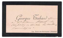 GEORGES TABARD LA TOUR-DE-SALVAGNY RHONE - Cartes De Visite