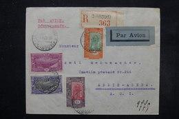 CÔTE DES SOMALIS - Enveloppe En Recommandé De Djibouti Pour Addis Abéba En 1936  Par Avion , Affr. Plaisant - L 27636 - Côte Française Des Somalis (1894-1967)