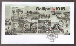 2015 Australia Centenary Of WW1 GALLIPOLI Mini Sheet FDC First Day Cover - FDC