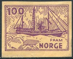 POLAR Norway ESSAY Sailing Ship FRAM Segelschiff Voilier Polaire Arctic Antarctica Nansen Sverdrup Amundsen Vignette - Polar Ships & Icebreakers