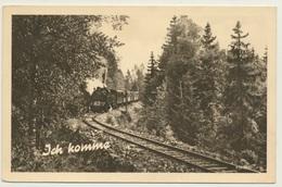 AK  Eisenbahn Dampflok Ich Komme - Trains