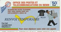 OFFICE DES POSTES ET TELECOMMUNICATIONS DU BENIN  50   RENVOI TEMPORAIRE - Andere Voorafbetaalde Kaarten