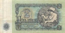 BILLET 2 LEVA BULGARIE - Bulgarie